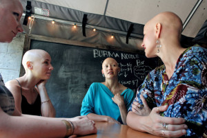 """""""Four Women Bond over the Beauty in Their Baldness"""" Yana Paskova for The New York Times"""