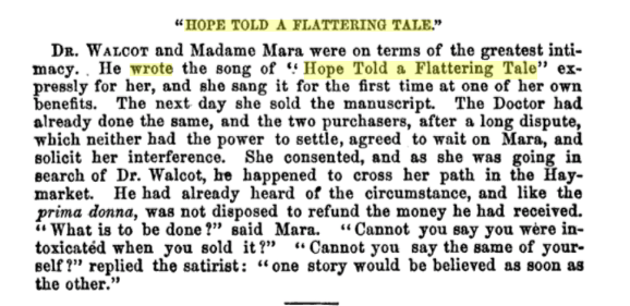 Hope Told a Flattering Tale, fr Anecdotes for the Steamboat & Railroad